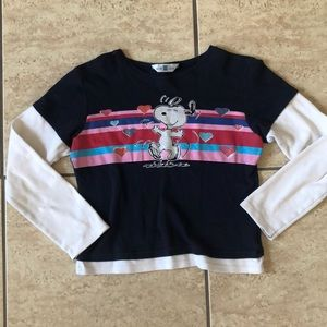 Peanuts Snoopy long sleeve crop top